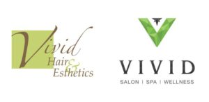 Vivid Salon Spa Wellness Old and New Logos 700px
