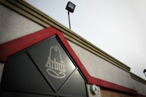 Arbys Etched Glass Window Decal