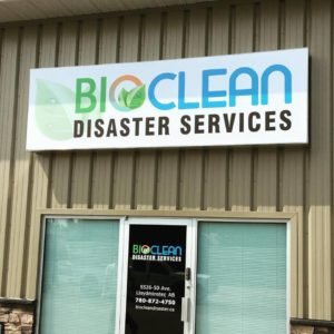 Bioclean Disaster Service Storefront Sign Decals