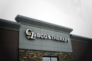 CL Body Therapy Storefront Channel Lettering Sign
