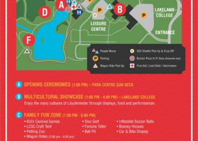 City of Lloydminster Canada Day 2017 Activities Sign