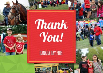 City of Lloydminster Canada Day 2017 Printed Thank You Frame