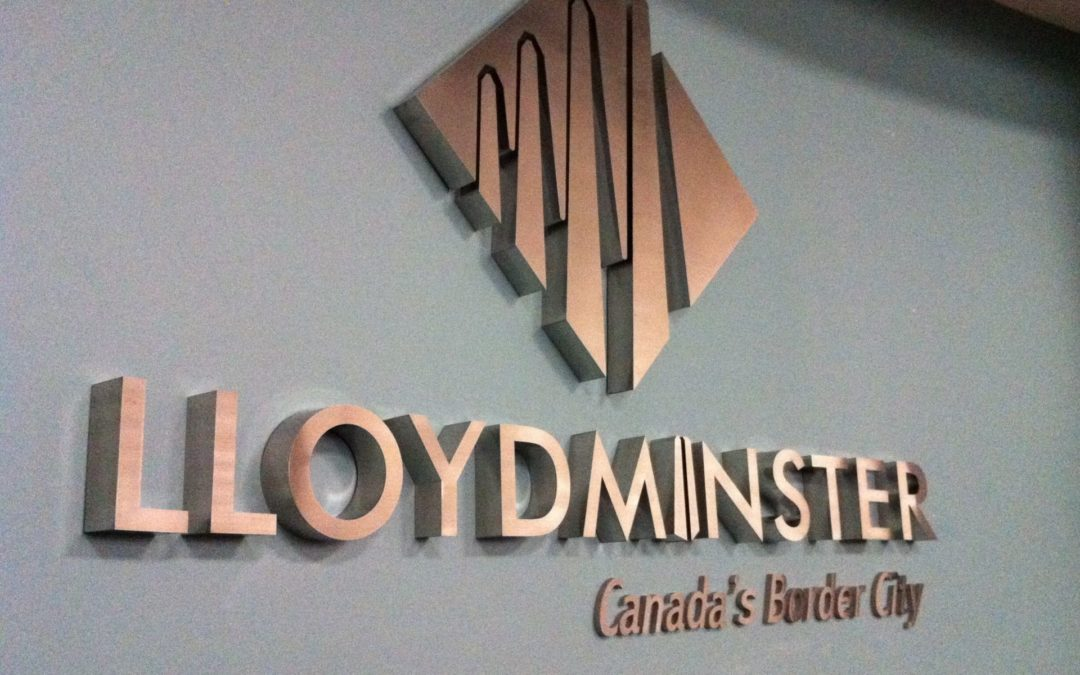 Interior Sign: City of Lloydminster