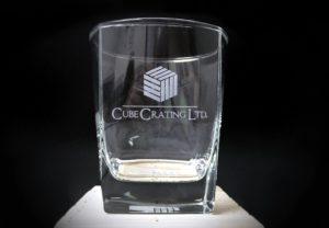Cube Crating Glassware Promotional Product