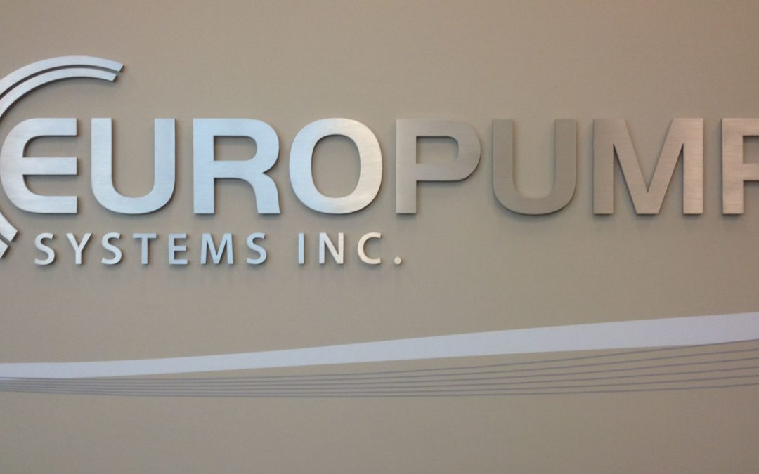 Interior Sign: Europump Systems