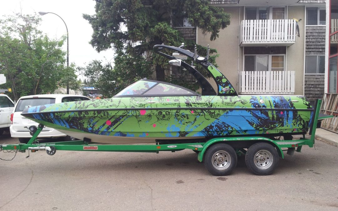 Boat Decals: Graffiti Design