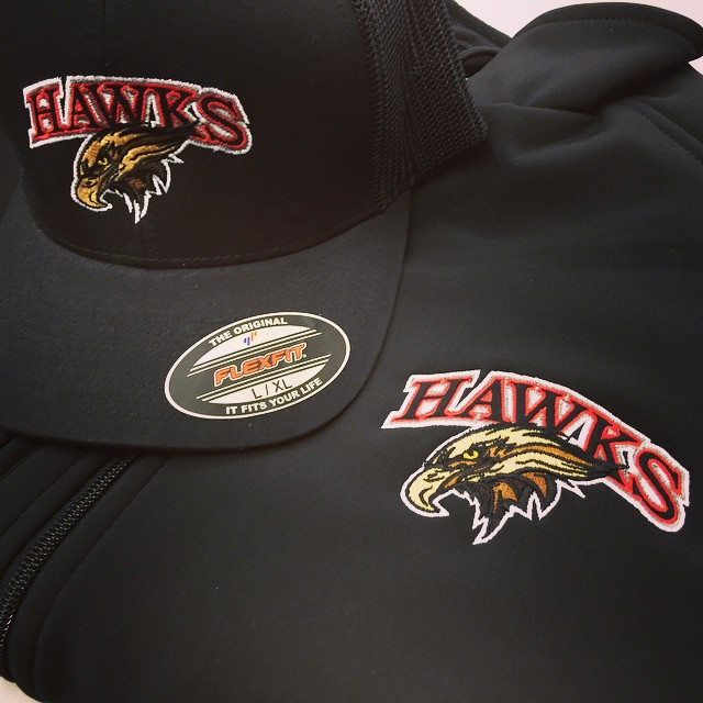 Apparel Decoration: Hafford Hawks Embroidered Hats