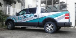 In The Zone Contracting Truck Decals