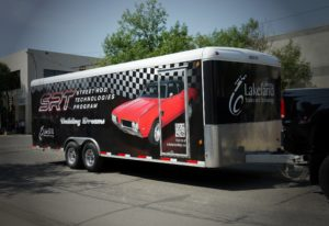 Lakeland College Street Rod Technologies Program Trailer Wrap