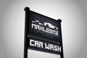 Mr Kleenz Car Wash Pylon Sign