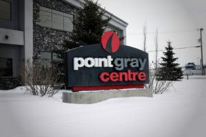 Point Gray Centre Monument Sign