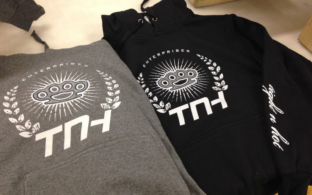 Apparel Decoration: TNH Screen Printed Applique Hoodies