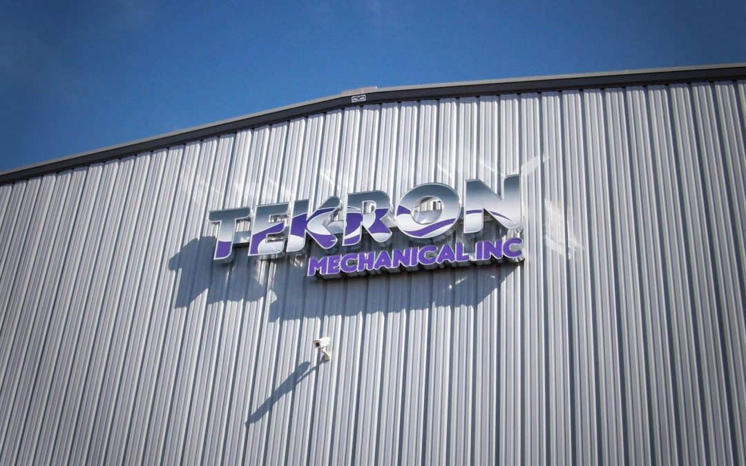 Storefront Sign: Tekron Mechanical