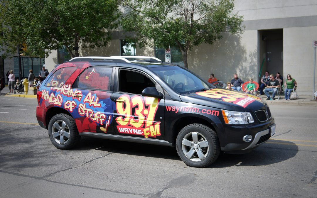 Vehicle Wrap: Newcap 93.7 Wayne FM