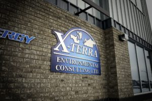 X-Terra Environmental Consulting Storefron Aluminum Sign