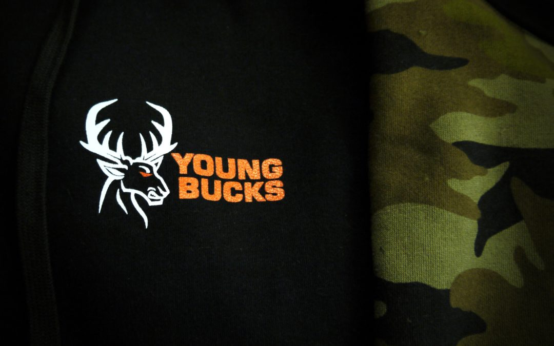 Apparel Decoration: Young Bucks Embroidered Camo Hoodies