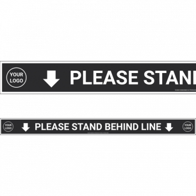 Ironjet COVID Decal Stand Behind Line 510 px